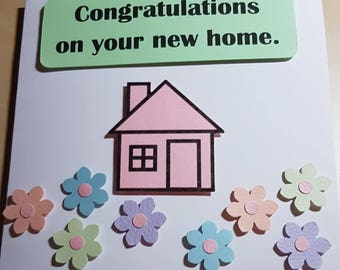 New home - greeting card - new house - moving - moving home - moving house