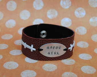 Personalized football bracelet