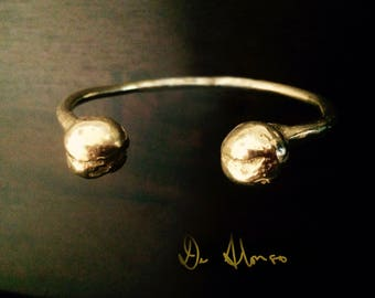 Old World Gold Torque Bangle Ancient Sumerian Design