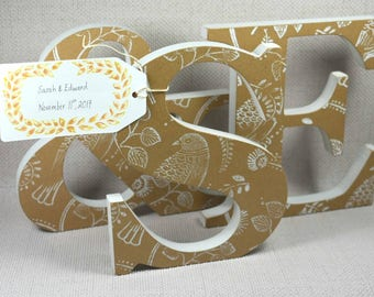 Custom Wedding Letters, Couple Gift, Wedding Gifts, Newlywed Gifts, F&B, Wedding Present, 20cm, Hand Painted, Free Gift Wrapping!