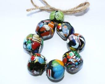 African handicraft, Kroboperle, Tradebead, xl beads, colorful beads, 24 mm