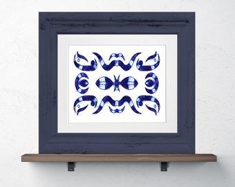 Tribal Shibori Inspired Print 8x10 or 11x14 tribal