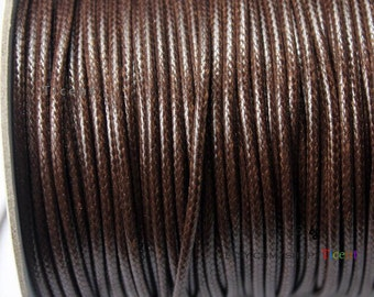 Sale 100 Yards/Roll 2mm Brown Wax Cords, Environmental Protection Wax Cords WS234