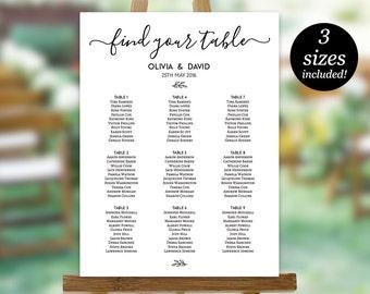 Wedding Seating Chart Sign Seating Chart Printable Seating - Wedding invitation templates: seating chart template wedding