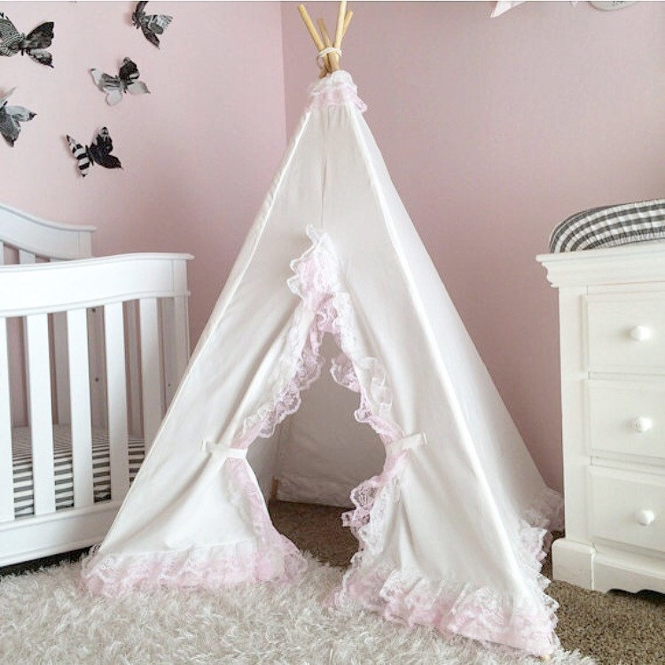 ?zoom & Girls Teepee White Lace lace teepee kids teepee tent girls