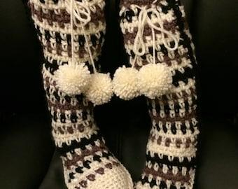 Knee High Slipper Shoes