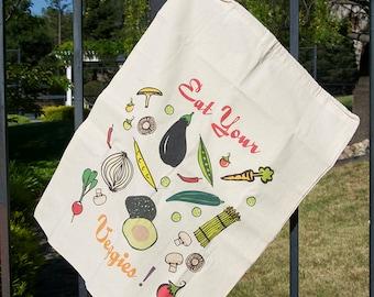Cotton Produce Bag - Veggie Design