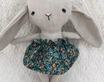 Small rabbit plush stuffed animal toy baby doll and child