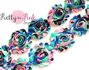 80's BLAST Shabby Rose Trim- Shabby Flowers- 1/2 Yard or 1 Yard- Shabby Chiffon Trim- Wholesale Shabby Flowers- - Chiffon