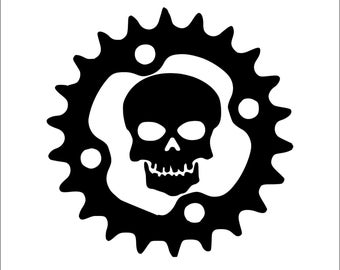 Skull Gear,Mountain Biking,Biking,Motor Cycle Decal