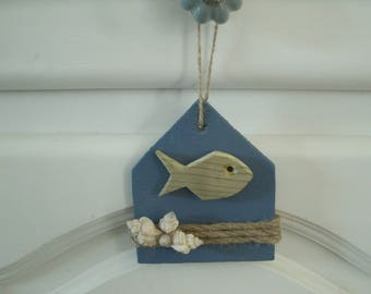 small maritime decor wooden house