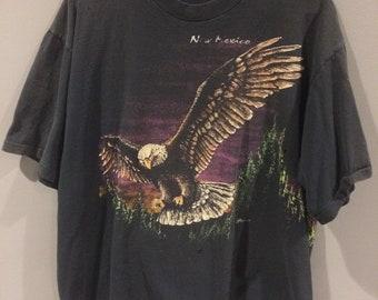 Vintage 90s New Mexico bald eagle USA faded shirt