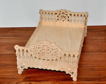 Barbie And Ken Family Bed, Dollhouse Miniature Furniture, Dollhouse Bedroom,  Barbie Size Furniture