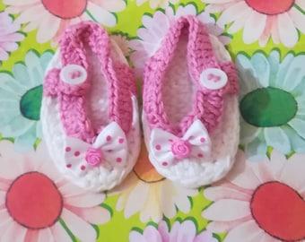 Baby flip flops, baby cotton sandals, baby birth gift, barefoot sandals, newborn gift, baby shoes