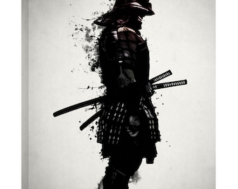 "Giclee Canvas Wall Art ""Armored Samurai"" by Nicklas Gustafsson"