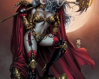 Steampunk Lady Death