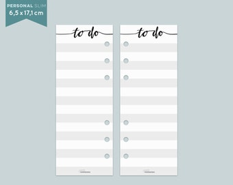 ToDo List - Personal slim - Notepaper - 25 Sheets