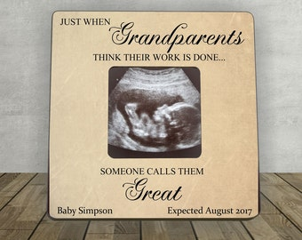 Pregnancy Expecting Announcement,Great Grandparents, Ultrasound picture frame for Great Grandparents,Ultrasound Pregnancy,Pregnancy Announce