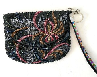 Beaded Evening Bag, Beaded Handbag, Beaded Purse