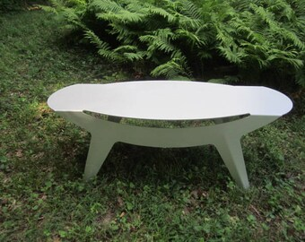 Vintage Modernist Brushed Aluminum Coffee Table from Midwest Estate