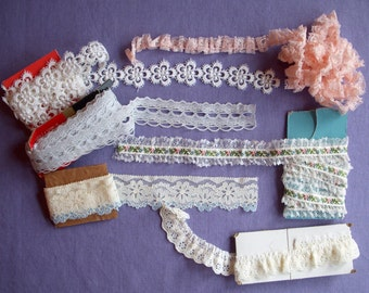 Vintage Laces Collection, Pretty Pastels and White