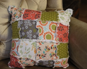Lazy Summer Days Rag Quilted Pillow