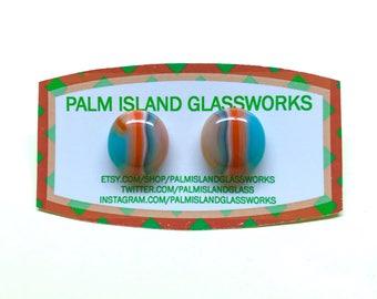 Fused Glass Earrings - Autumn