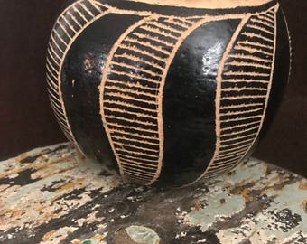 Jicara Bowl with hand crafted design