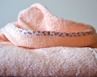Star For baby/ Baby Girl/ In Peach Color/ Hand Made/ Gift For Baby/ After bathing