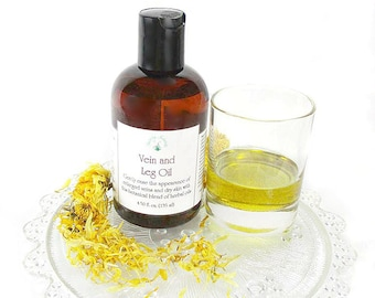 Varicose Vein and Leg Oil, cypress essential oil, natural, organic, leg oil aids spider veins 4.50 oz
