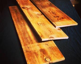 Set of three Pine Shelves