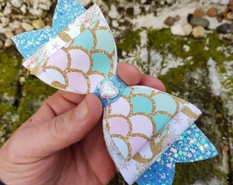 Hand made children's canvas fabric hair clip made to order a great gift idea