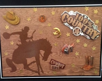 Father's day, Husband, brother, son, Uncle, Cowboy - This Large card is definitely 100% Country.