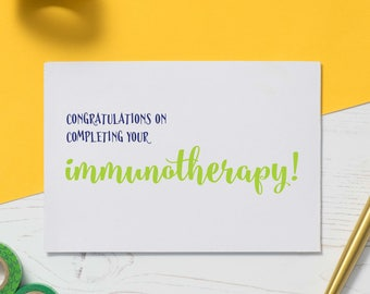 Cancer Treatment Card: Cancer Card, Immunotherapy Card, Recovery Card, Card for Illness, Get Well Soon, Encouragement Card, Empathy Card