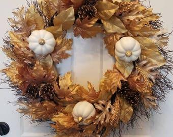 Fall wreath/ housewarming wreath/door wreath/ autumn wreath/ Christmas wreath