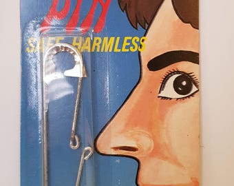 Vintage Nose Safety Pin Gag Prank Joke