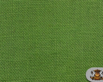 """Burlap Jute APPLE GREEN Fabric / 58"""" / Sold by the yard"""