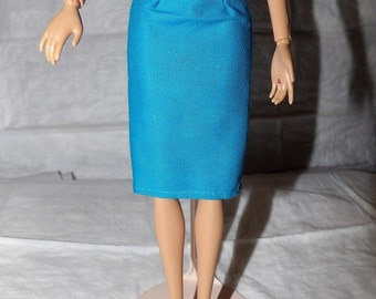 Fashion Doll Coordinates - Skirt in solid teal blue color - es371