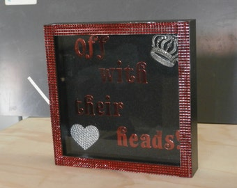 Queen of Hearts Inspired Art and Frame