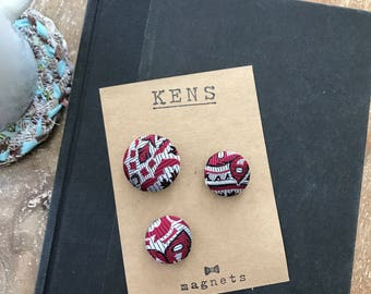 Handcrafted Vintage Fabric Magnets