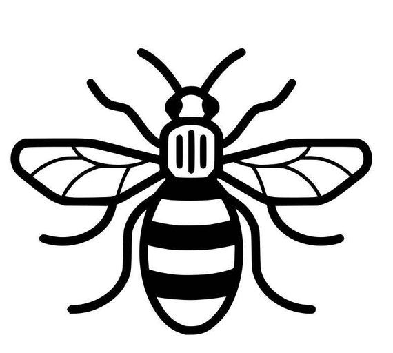 Manchester Bee Vinyl Sticker For Walls Furniture Cars