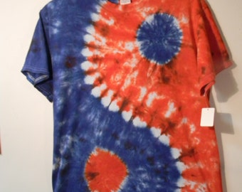 Adult Medium Tie Dye T-shirt Yin-Yang Short Sleeve