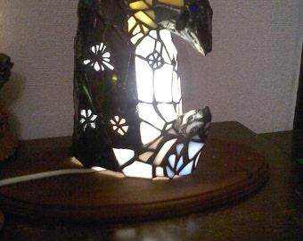 Stainedglass Emperor Penguin Lamp