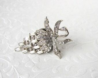 Beautiful Baguette Rhinestone Brooch Berry Strawberry Blackberry Raspberry Vintage Costume Jewelry Wedding Formal Evening Dress Hat Gown Pin