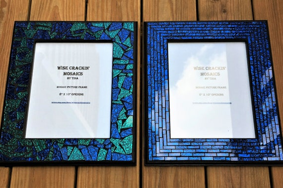 MOSAIC PICTURE Frames in Gorgeous Van Gogh Stained Glass /