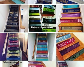 Book Spine Stair Decals – Customised