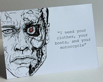 Terminator /Arnold Schwarzenegger Card (A6)