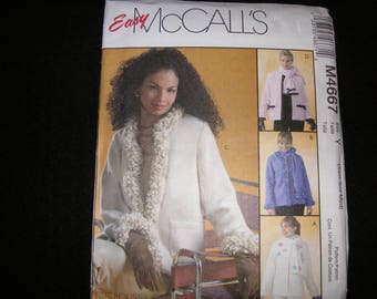 2004 UNCUT/NEW McCalls 4667 Jacket Pattern in Misses Sizes XS-S-M