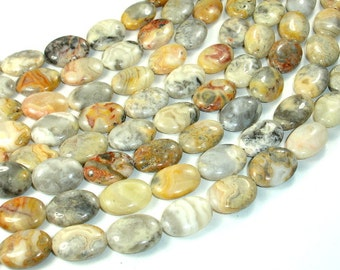 Crazy Lace Agate Beads, Oval, 13 x 18 mm, 15.5 Inch, Full strand, Approx 22 beads, Hole 1 mm (202030015)