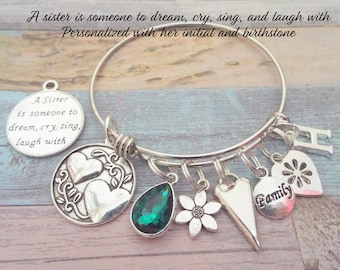 Gift for Sister, Sister Birthday Gift, Gift for Sister's Birthday, Sister Valentine Gift, Personalized Gift, Jewelry Gift, Gift for Her